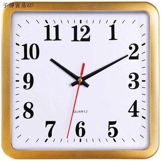 ZD現貨速發✣時鐘錶客廳家用掛鐘牆上裝潢兒童房臥室長方形石英鐘時尚簡約掛表