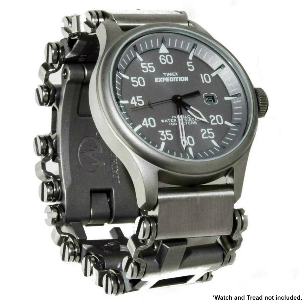【預購】全新Leatherman Tread版及LT窄版專用手錶連接環一對(銀色不銹鋼)