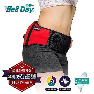 《好康醫療網》WELL-DAY晶晏動力式熱敷墊-石墨烯溫控熱敷護腰遠紅外線面料WD-GH327 (護腰)