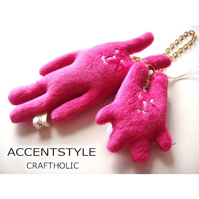 現貨【發現禮物】日本帶回 CRAFTHOLIC 桃紅色宇宙人親子款包包掛飾 吊飾