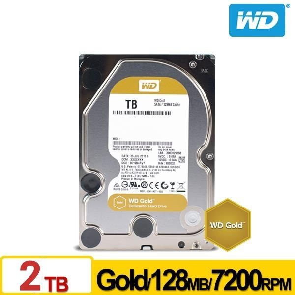 WD【金標】2TB 3.5吋企業級硬碟(WD2005FBYZ)
