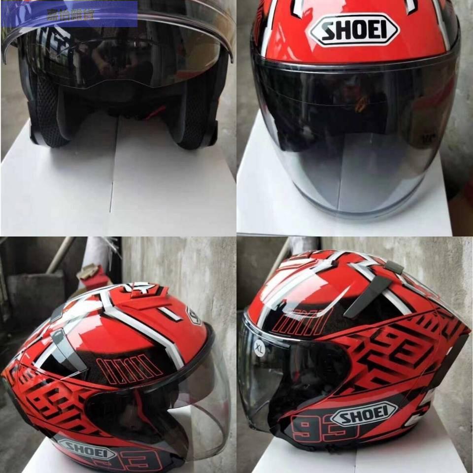 ♥嘉怡雜貨♥SHOEI X14 頭盔紅螞蟻白螞蟻、亮白、啞光黑 雙鏡片半盔 男女通用