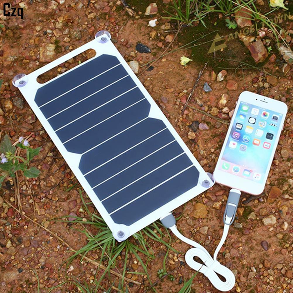 【免運】6W 5V USB 端口太陽能電池板便攜式 Sunpower 充電移動電源