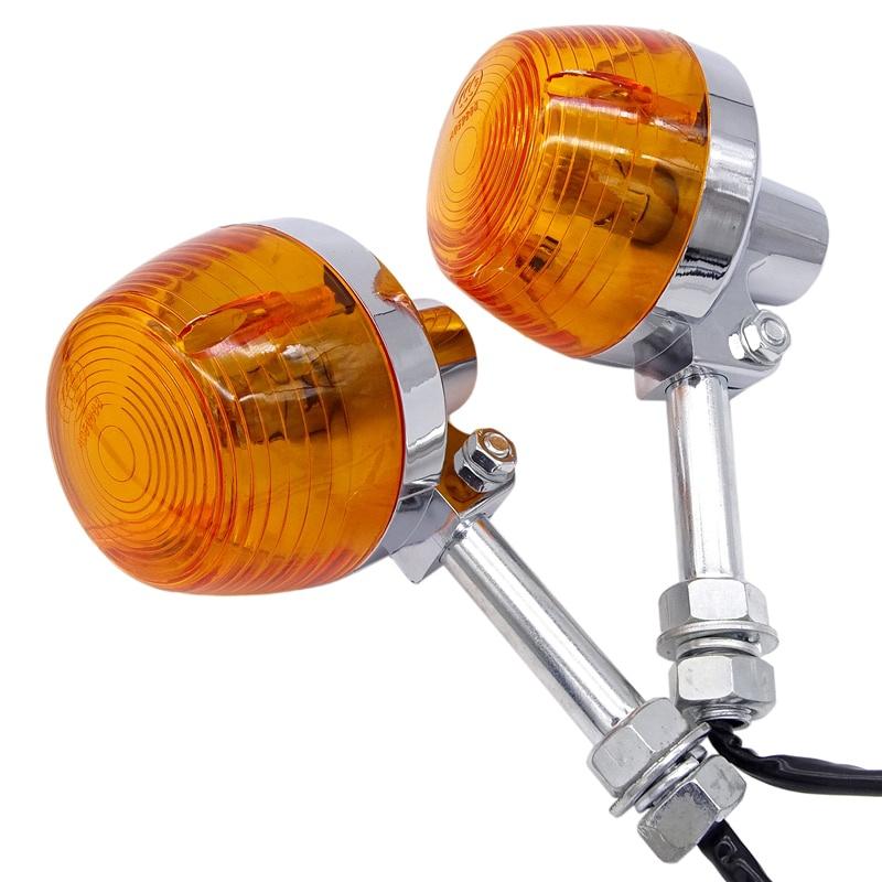 通用摩托車尾燈 轉向信號燈閃光燈 指示燈 琥珀色燈 適用於本田XL100 C70 CT70 CT90 CB350