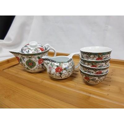 【大也】景德鎮6件套翻蓋茶杯組 手工製品陶瓷茶杯 翻蓋茶壺配茶海6杯組具