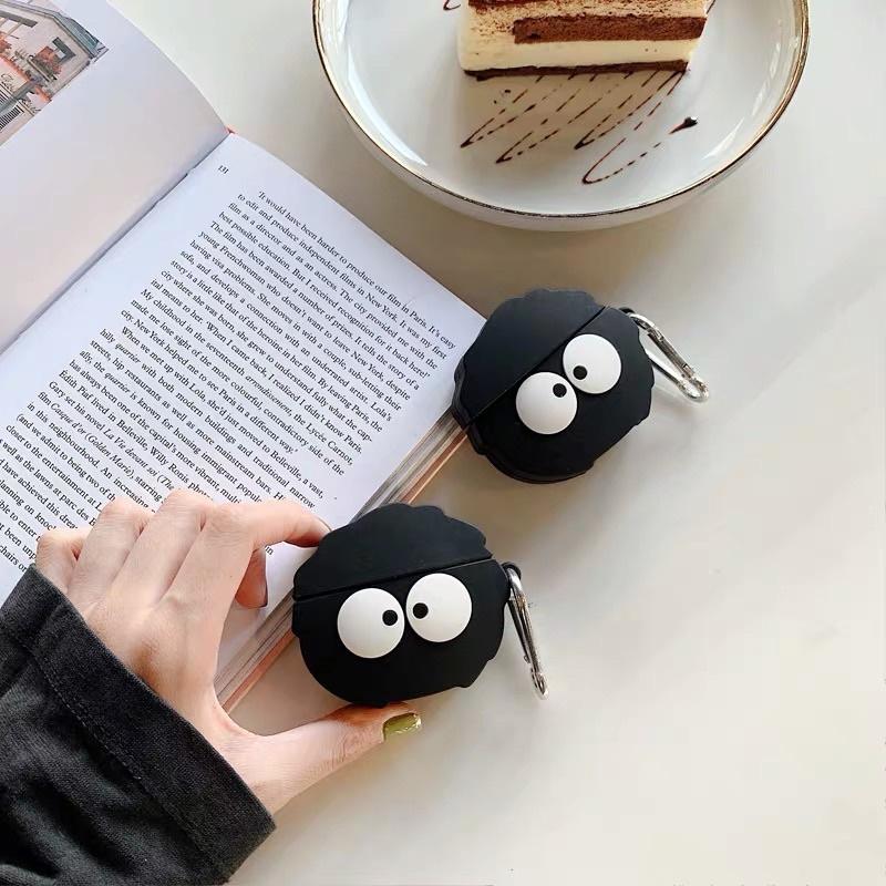 【宮崎駿】黑炭煤球精靈Airpods系列、Pro矽膠耳機保護套