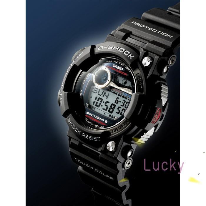 CASIO卡西歐G-SHOCK 潛水用 電波錶 FROGMAN (蛙王)(日版) 黑 GWF-1000-1