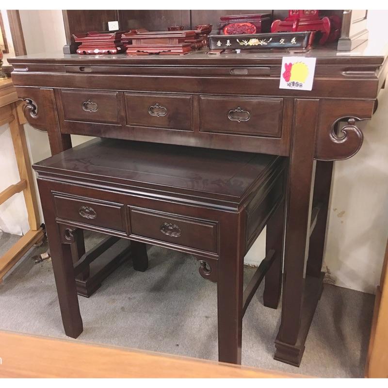 緬甸昆甸木純手工榫卯制作寬5尺1深2尺高4尺2元寶神桌