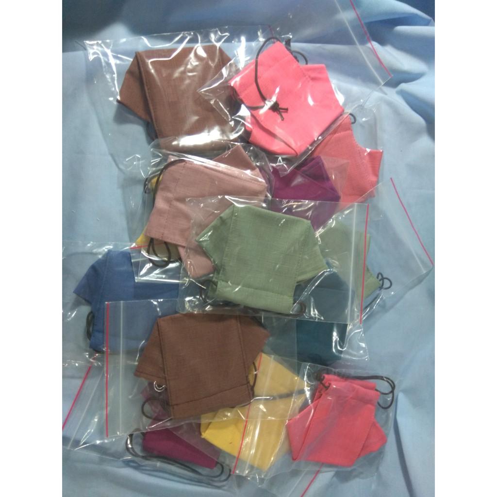 舟型立體布口罩 可放濾材 成人用