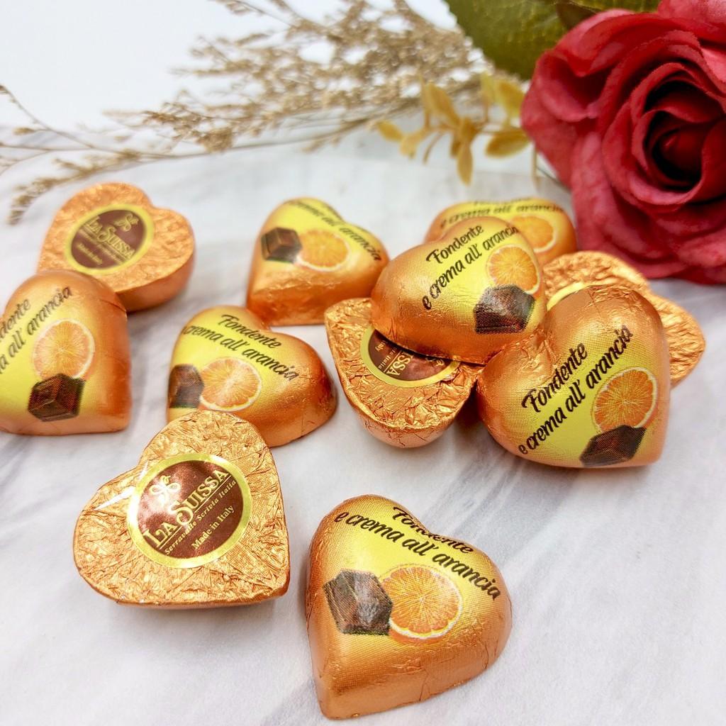 【嘴甜甜】 LA SUISSA桔子愛心巧克力 200公克 牛奶巧克力 愛心巧克力 夾心巧克力 義大進口 巧克力系列