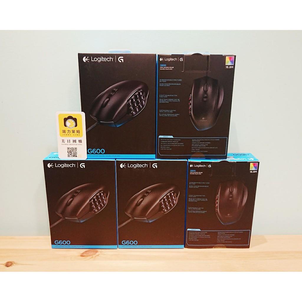 【竭力萊姆】全新 一年保 Logitech G600 MMO 羅技 發光雷射電競滑鼠 20按鍵 G-shift