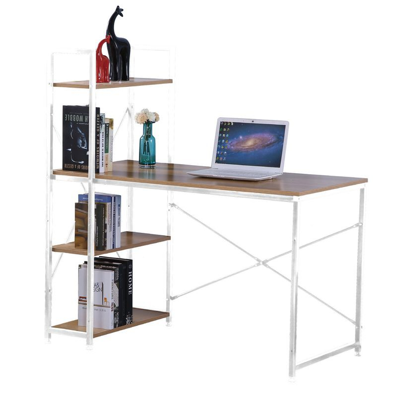 【FA825-3】艾美4尺本色白腳書架型書桌