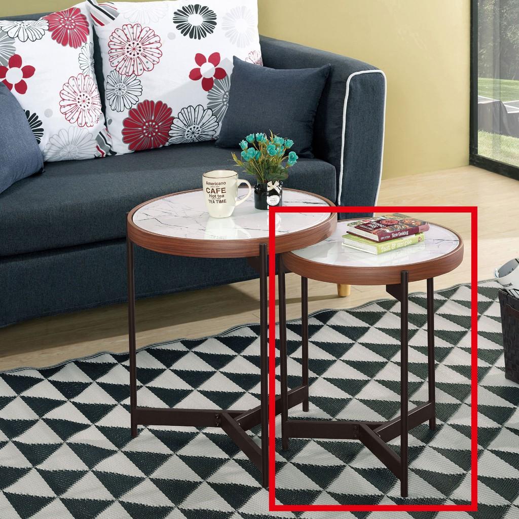 【42cm玻璃低茶几-A318-8】實木原木玻璃 大理石長方桌 大小邊几 圓桌 【金滿屋】