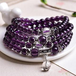 現貨在台,已開光,暗紫色,6mm.108顆紫水晶唸珠手鏈 高雄市