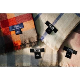 蒙古Gobi 喀什米爾羊絨圍巾 格子 160*30 新北市