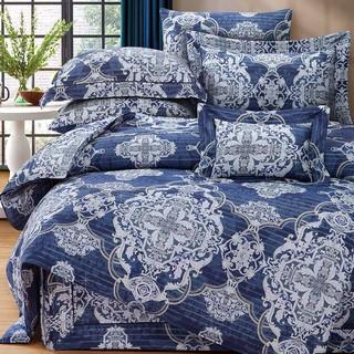 80支頂級雙線銀纖天絲 【雙人 加大 特大組合】規格可選  兩用被床包四件組 七件式鋪棉床罩組 韋瓦第 台中市