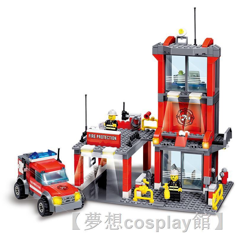 ▼☾樂高城市系列全套警察局警系局房子別墅積木男孩子拼裝益智力玩具