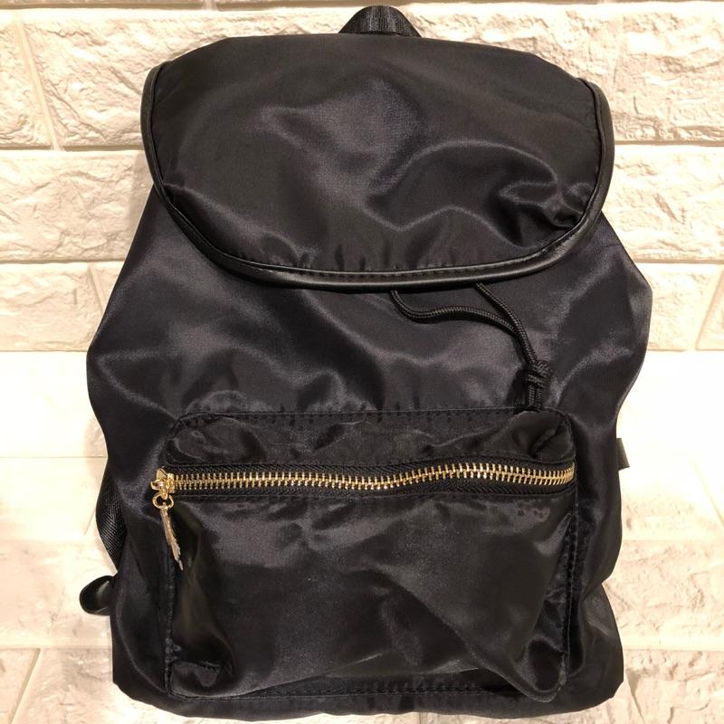 全新 Jeanasis 後背包 水桶包 黑 休閒包 可愛背包