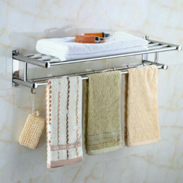 【預購】304不鏽鋼浴室毛巾掛勾架50cm