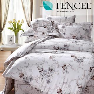 60支100%純天絲TENCEL【雙人 加大 特大組合】規格可選  兩用被床包四件組 七件式鋪棉床罩組 羅曼莎 台中市