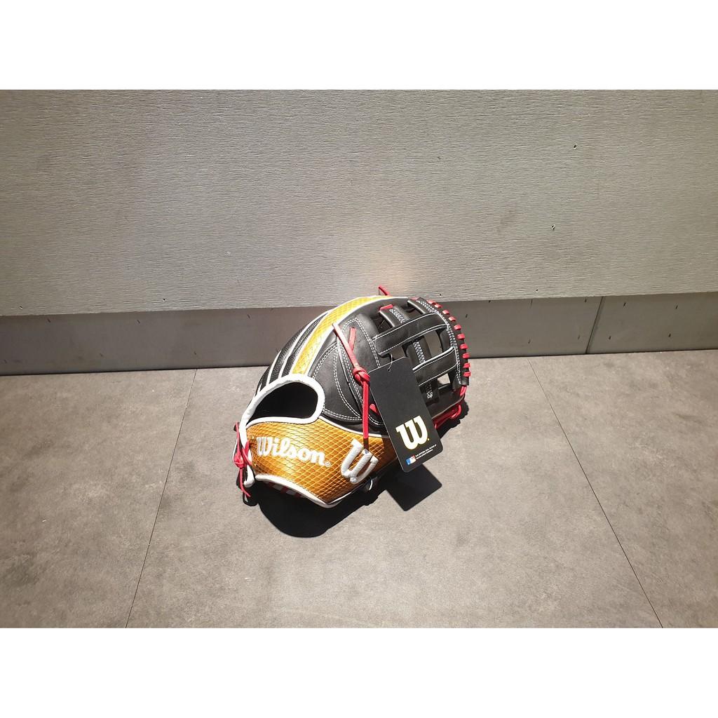 """【熱火體育】Wilson A2K 日本製 1799 SS 外野 接球手套 黑/咖啡 井字 12.75""""  WBW1000"""
