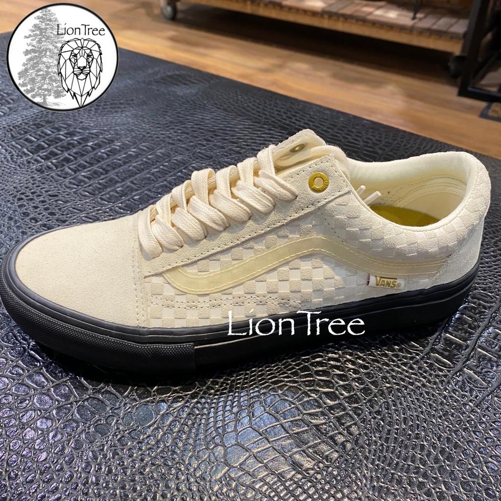 【LionTree】VANS 米色 黑 棋盤格 格子 米 黑色 男女 情侶 H-22532