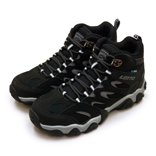 【LOTTO】專業多功能防水郊山戶外健行登山鞋 REX ULTRA系列 黑灰 2760 男