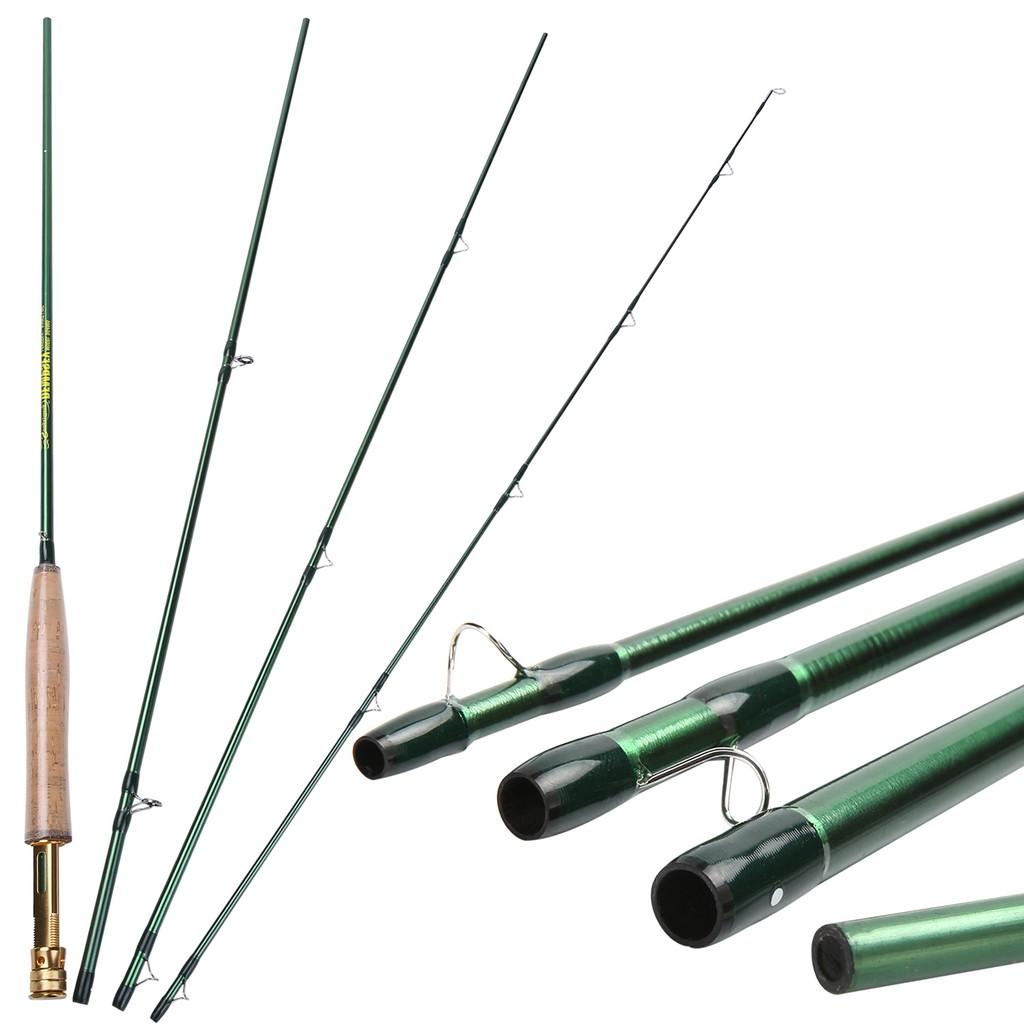 Sougayilang 嗖嘎一郎 兩款飛釣魚竿飛蠅竿 黑色/綠色飛蠅竿 戶外旅行飛釣竿 便攜式釣魚竿釣具 魚竿 釣魚漁具