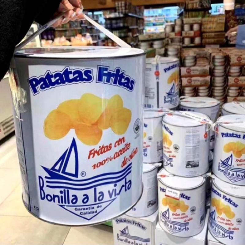 Bonilla a la vista 西班牙 海鹽 韓國油漆筒 油漆桶洋芋片 油漆桶薯片
