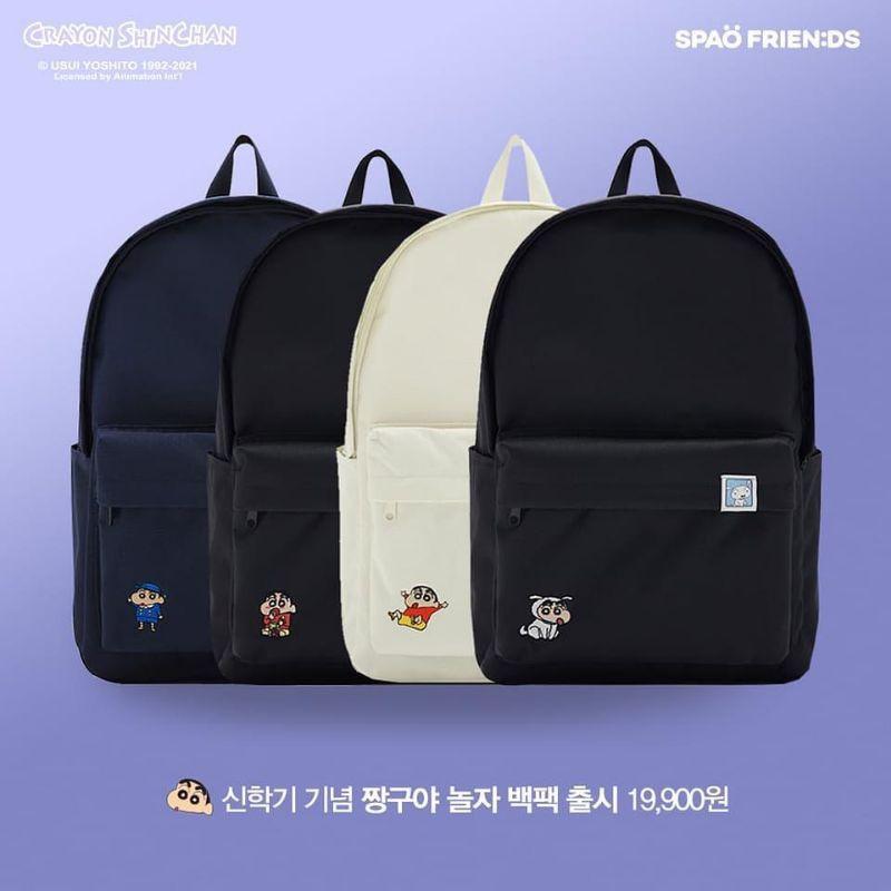 (預購)跟珮一起趣韓國 SPAO 蠟筆小新 2021 包包 後背包