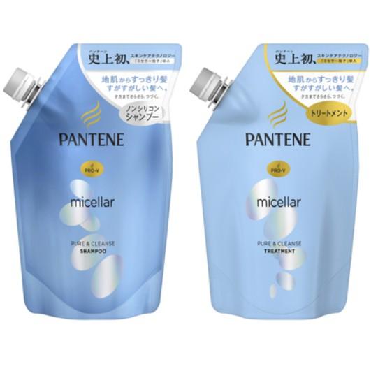 【好厝邊】日本潘婷 PANTENE 賦活淨化 水凝柔順 淨澈護色 洗髮露 潤絲精 350ml 補充包