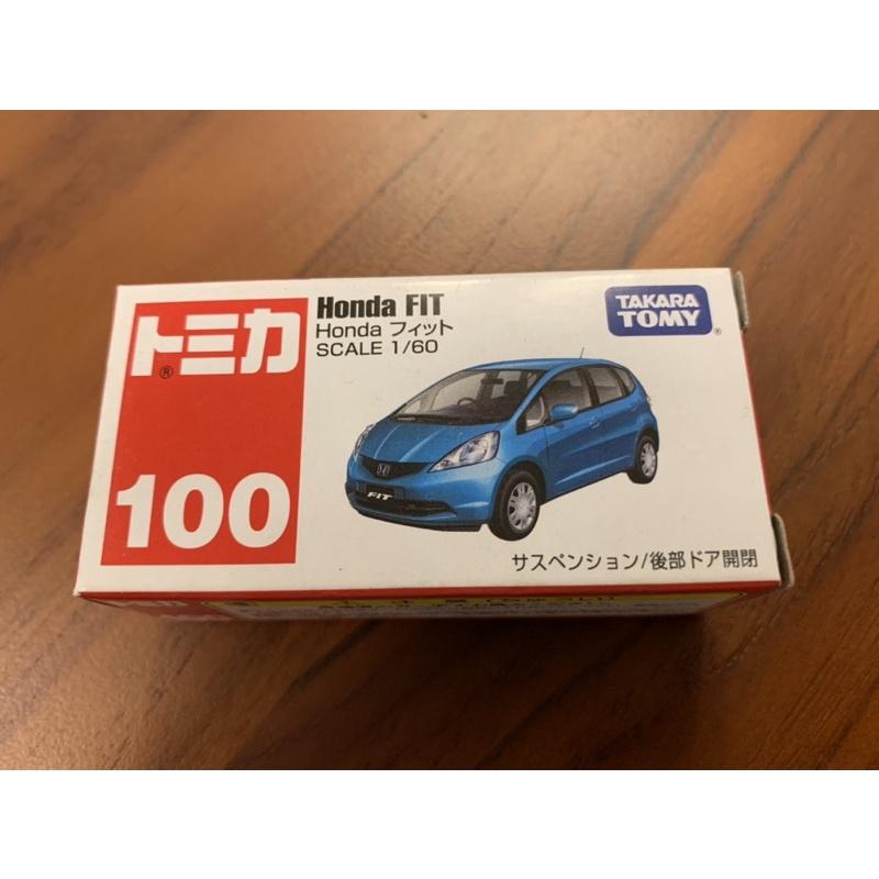 Tomica 100 Honda fit 絕版