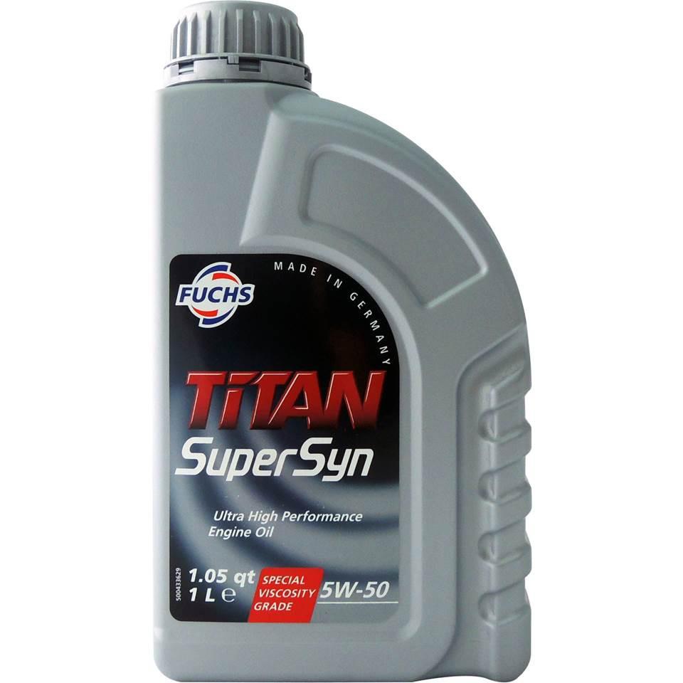 【五折加價購】福斯 Fuchs TITAN SUPERSYN 5W50 A3/B4 長效全合成機油 引擎機油 平行輸入