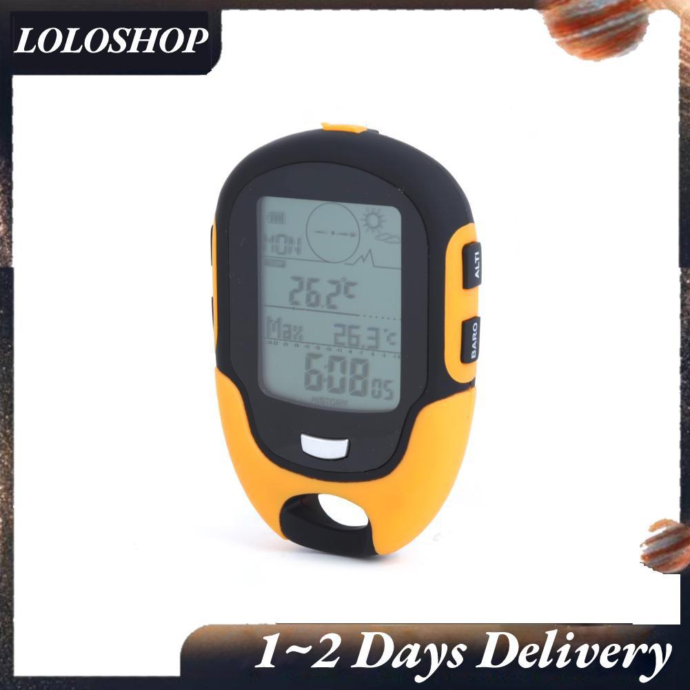 Loloshop Fr500 戶外多功能汽車高度計氣壓計溫度計指南針