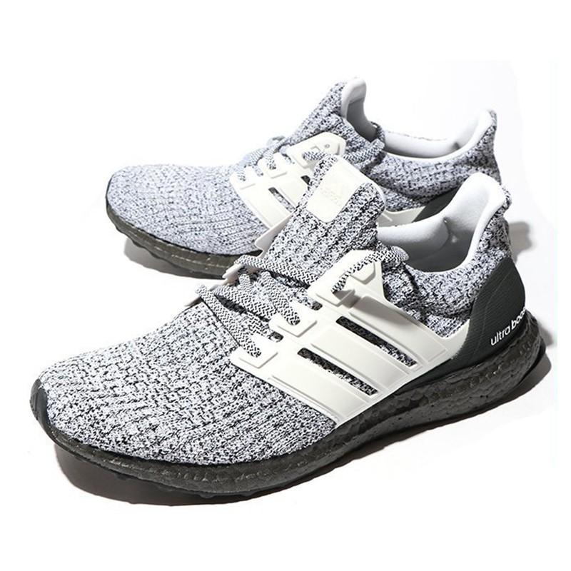 separation shoes 1ea81 66c05 Adidas Ultra Boost 4.0 Oreo 雪花 黑灰 牛奶 編織 襪套 慢跑鞋 BB6180 DOT聚點