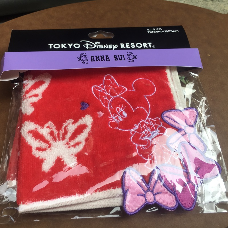 東京迪士尼與ANNA SUI 聯名款 ~  米尼毛巾