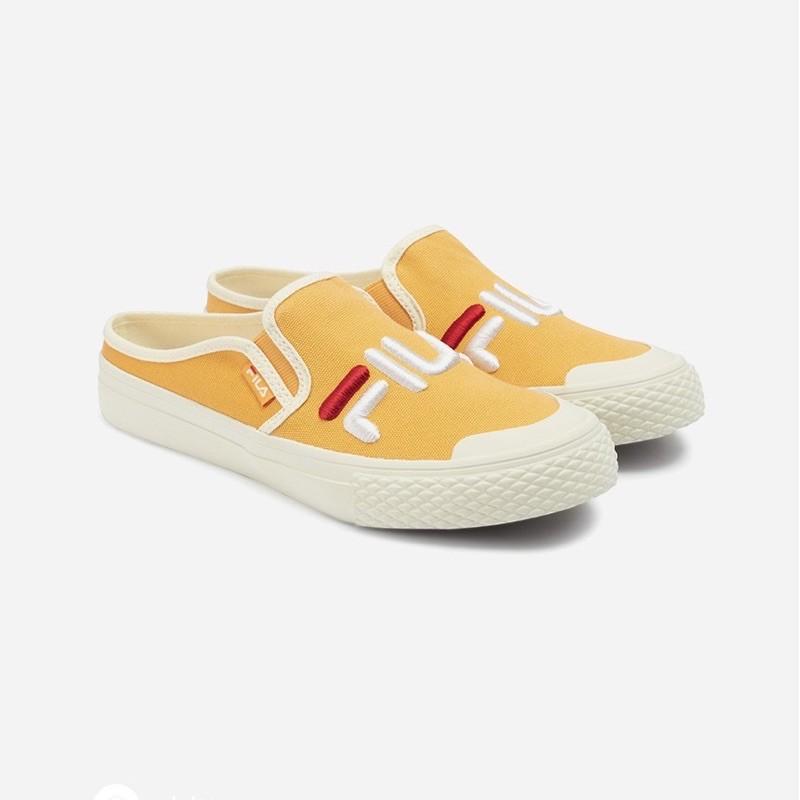 FILA- Classic Kicks Mule (穆勒鞋 / 懶人鞋 /黃色 24號 / 38號)