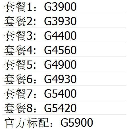 ET๑▧■Intel/英特爾 G4930 G4930 G3900 G3930 G5400 G5420