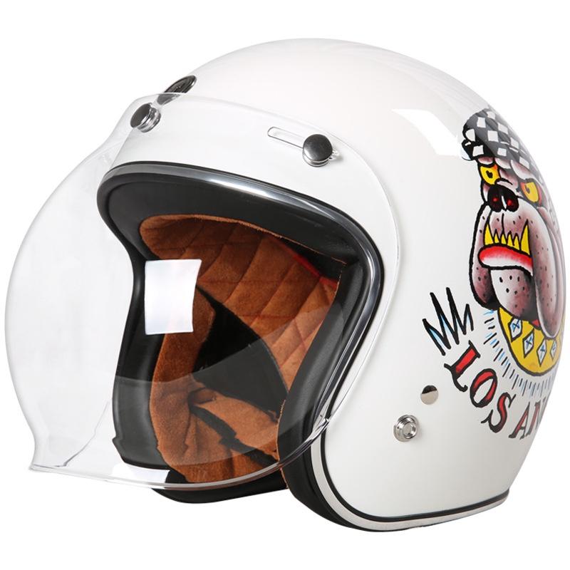 ⭐陽光戶外正品⭐TORC摩托車復古頭盔男女半覆式機車個性夏季電動車半盔安全帽