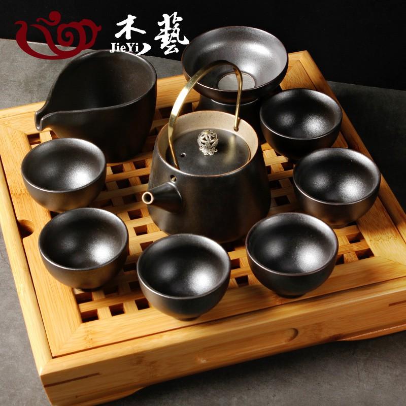 Ο特惠全場Ο茶具套裝功夫茶具陶瓷家用簡易日式古陶泡茶茶具仿古茶杯茶壺套裝