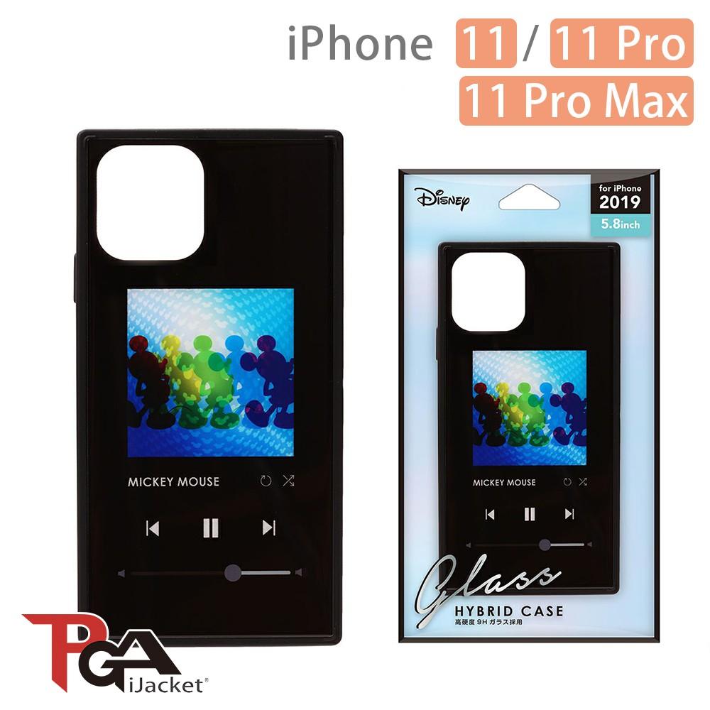 日本PGA iPhone 11/11 Pro/11 Pro Max 迪士尼 四角氣墊 9H玻璃殼-米奇黑 廠商直送 現貨