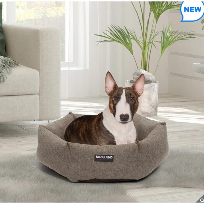 (宅配免運)小型犬寵物床 科克蘭25吋寵物六角形睡窩 寵物床墊 狗床 貓咪窩 貓床 好市多寵物用品 狗毯 睡毯 幼犬