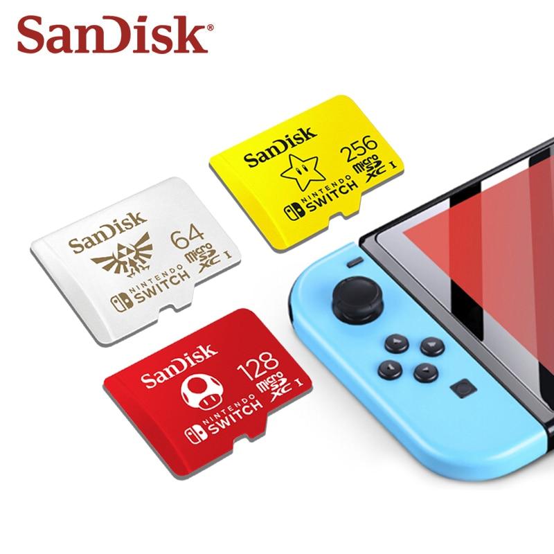 Sandisk 256gb Micro Sd 卡 Nintendo Switch 授權 128gb Uhs-I U3 4
