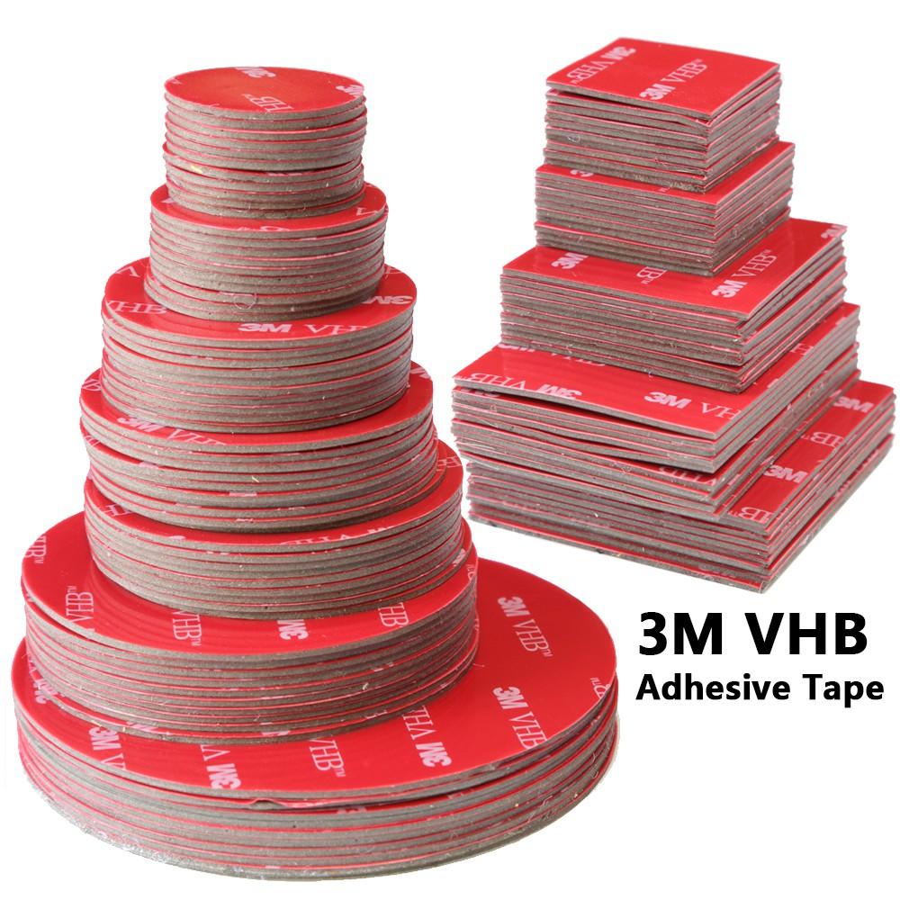 3M VHB雙面膠帶強力墊安裝方形/圓形汽車家用膠粘劑