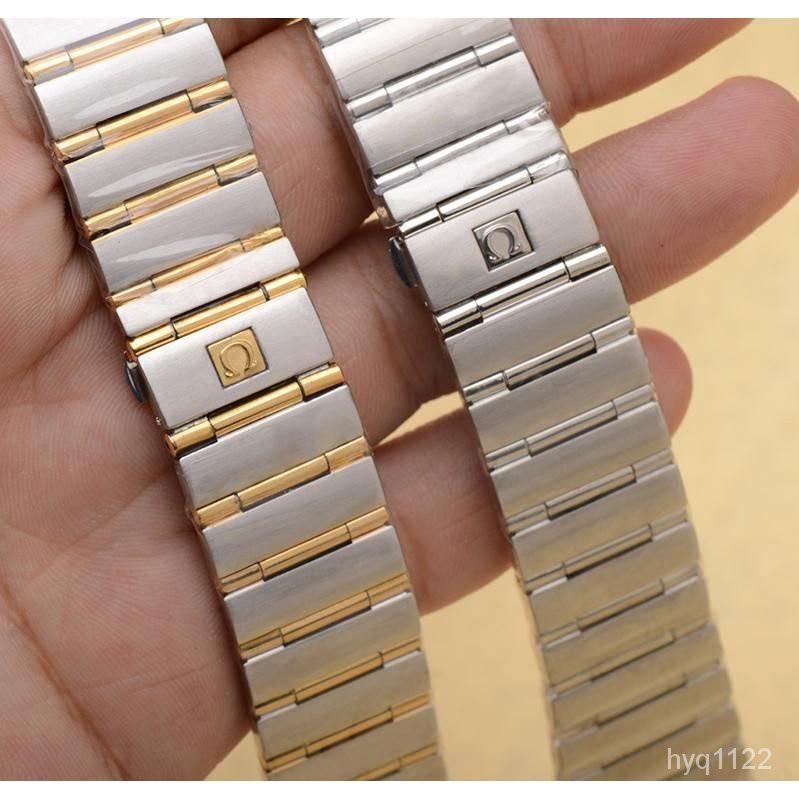 適用歐米茄星座錶帶男鋼帶 OMEGA星座雙鷹男女士不銹鋼手錶鏈配件/vivi生活館♥