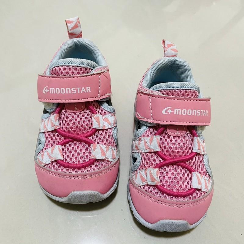 moonstar 幼童二手運動涼鞋 粉紅色