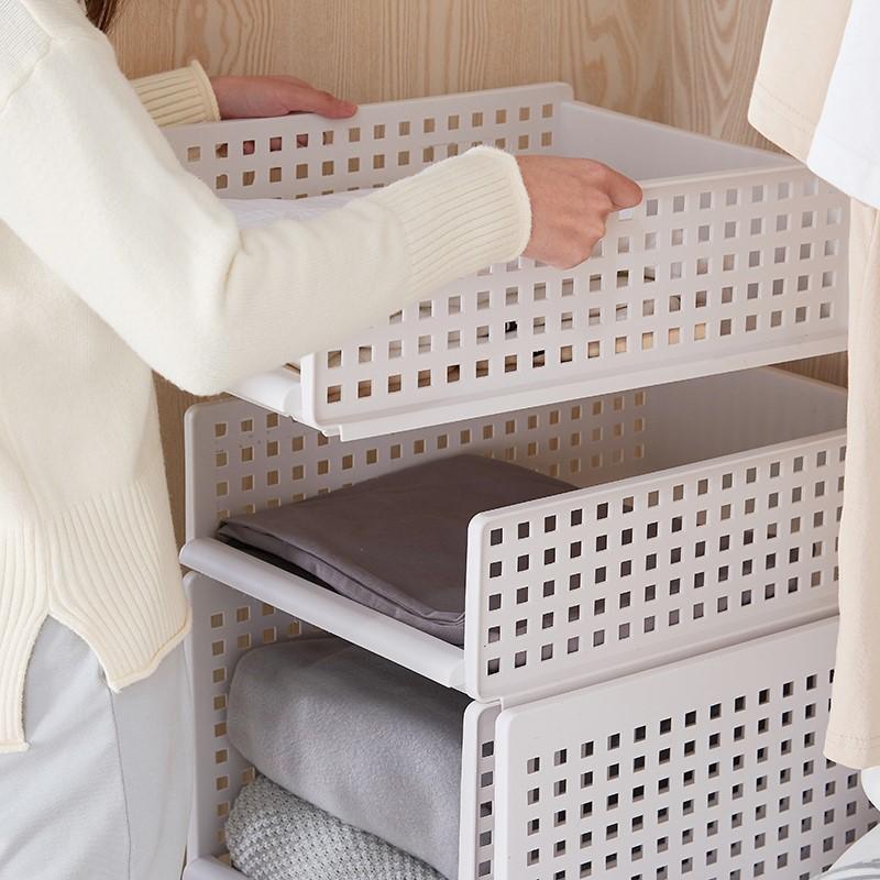 【桃園大安】-收納架 收納箱 可折疊抽取式收納架 多層疊加 分層收納