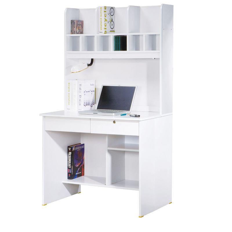 【FA830-1】金點將白色二抽書桌