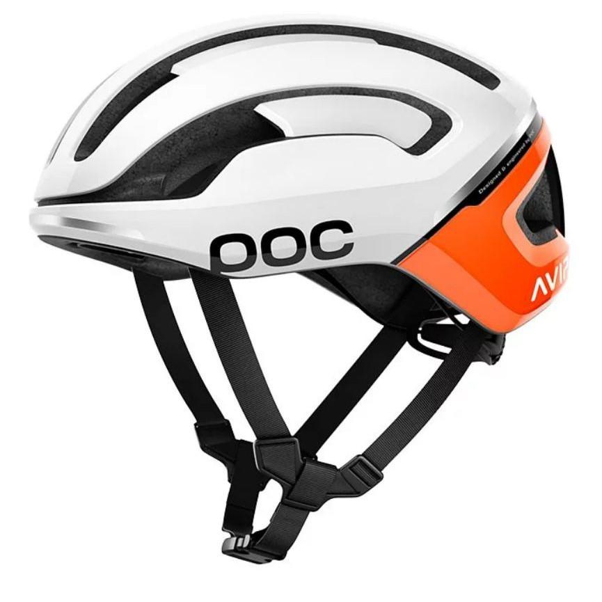 瑞典 POC Omne Air Spin 安全帽(亮光白/橘AVIP) 自行車 / 直排輪 都適用 台灣公司貨