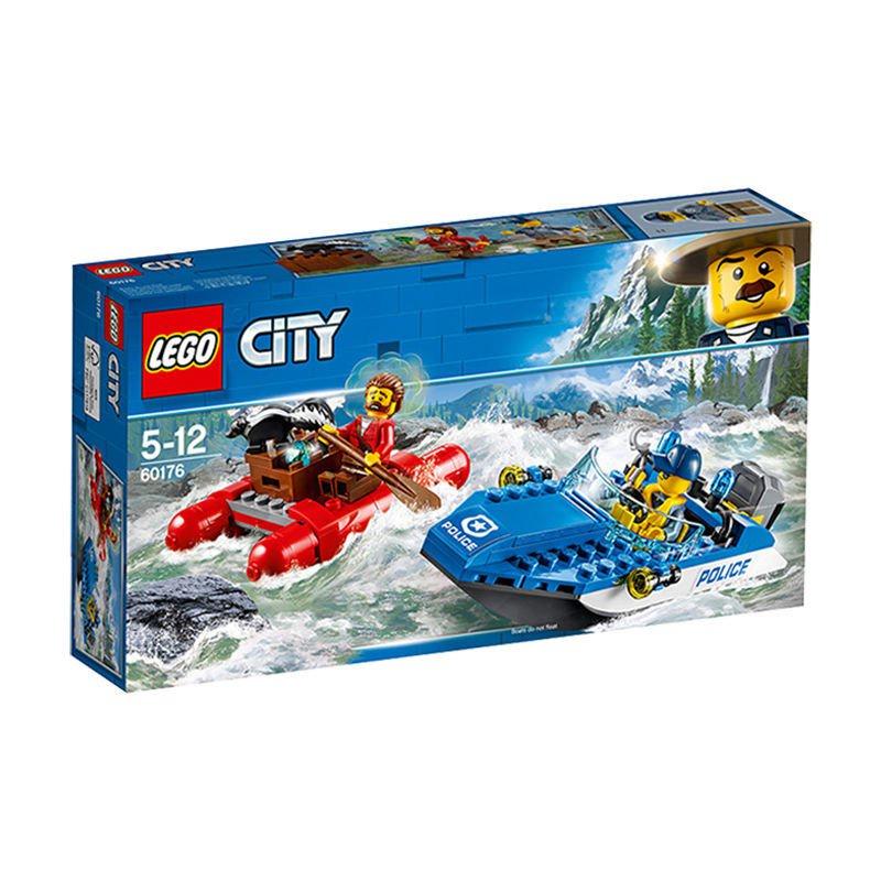 【特賣現貨】【正品保障】包郵 LEGO/樂高積木 60176城市系列激流追擊益智積木